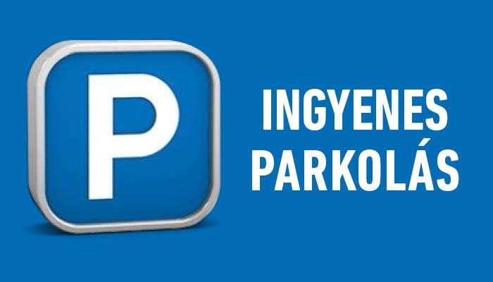 Ingyenes a parkolás!