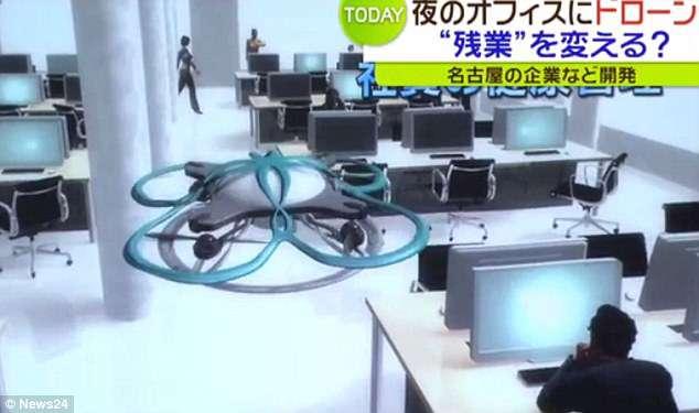 Zenélő drón a túlmunka ellen Japánban