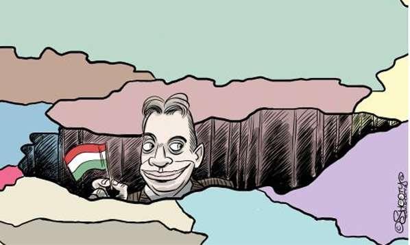 orbán karikatúra