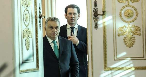 Sebastian Kurz és Orbán