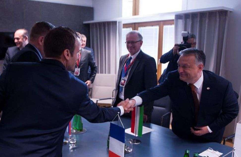 Macron francia elnök és Orbán