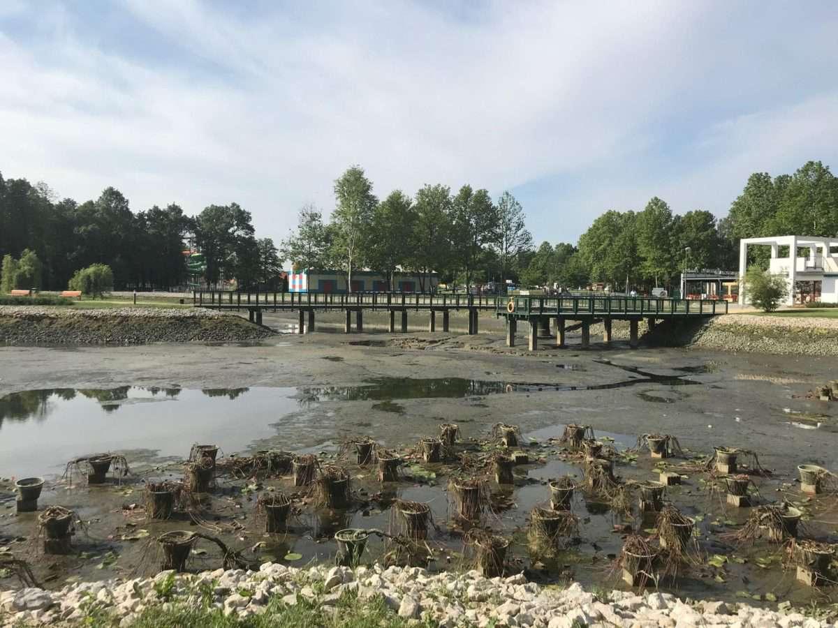 Száraz tónak nedves partja - Zalakaroson eltűnt a víz