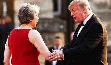 Theresa May és Trump