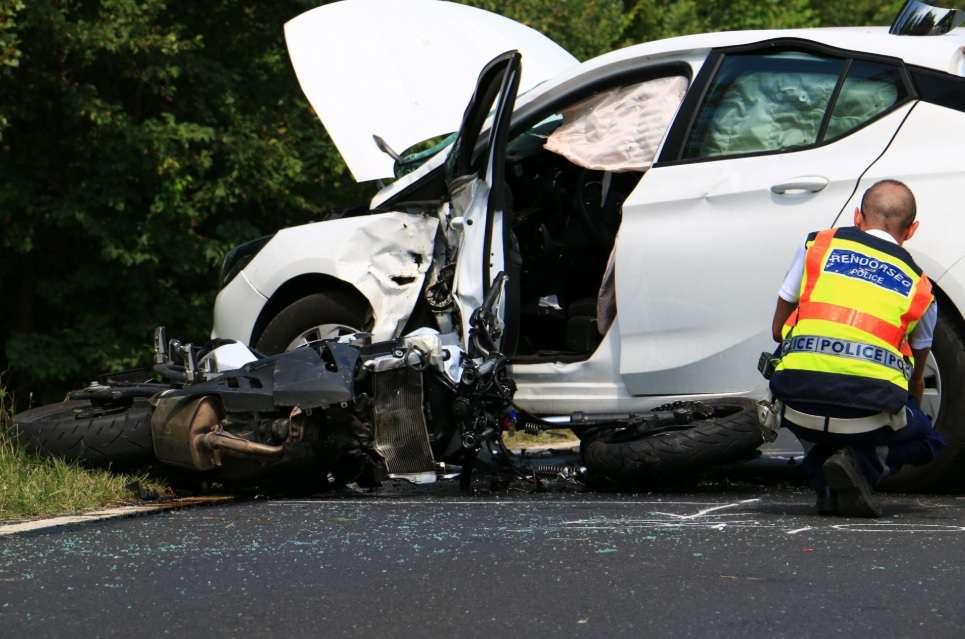 motorkerékpáros baleset