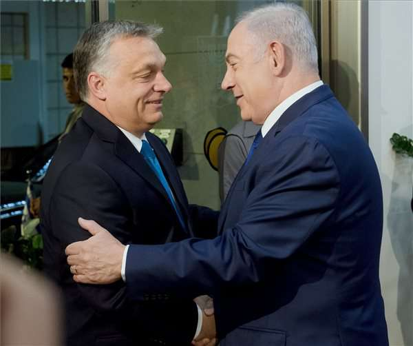 Orbán Viktor és Netanjahu