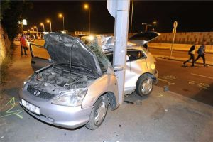 közlekedési baleset Újbudán