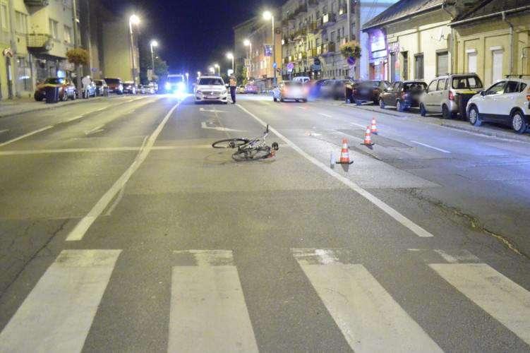 elütött kerékpáros