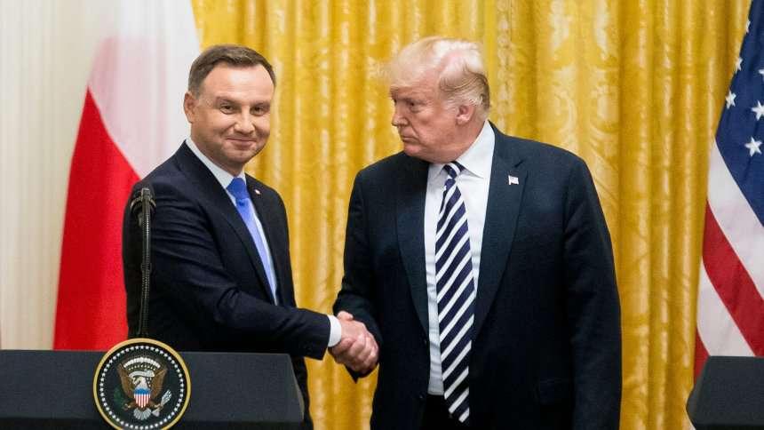 Donald Trump Andrzej Duda