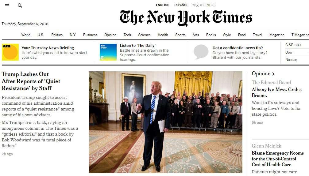 Trump a lapban