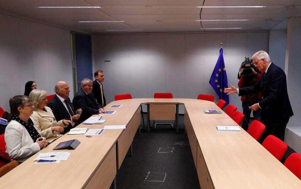 Brit ellenzéki pártok vezetői Brüsszelben
