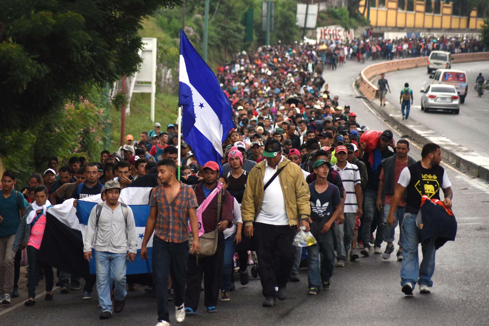 hondurasi menekültek - Trump pánikot kelt