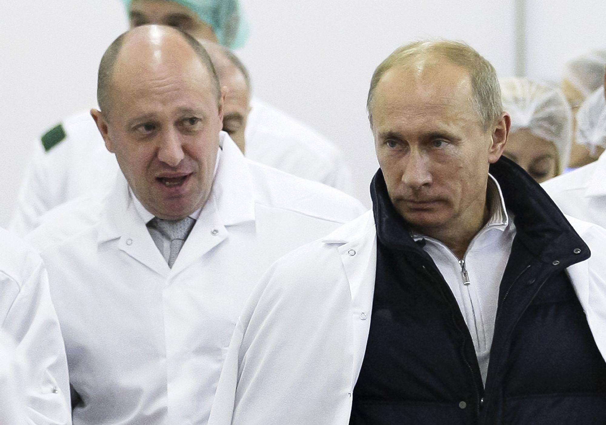 Putyin és egy orosz oligarcha