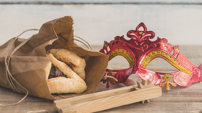 zsidó farsang, sütemény, és álarc
