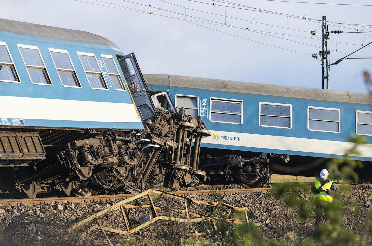 Vonatbaleset Újfehértónál