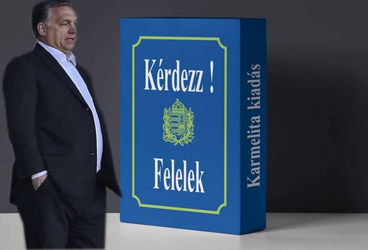... és Orbán feltette a nagy kérdést, amire a változatosság kedvéért választ várt - Megkapta!