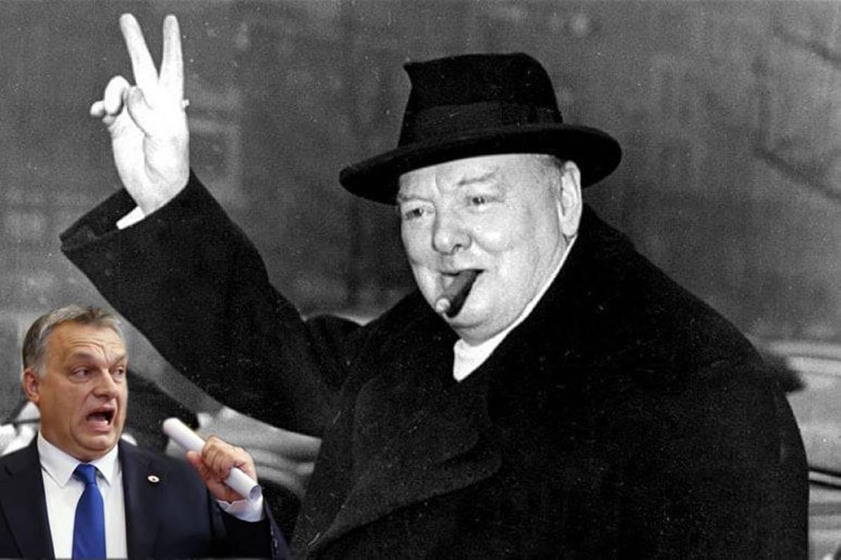 Churchill forever! Dagadtan is. Piásan is. Mert az volt, aki a Kedves Vezető soha nem lesz: államférfi!