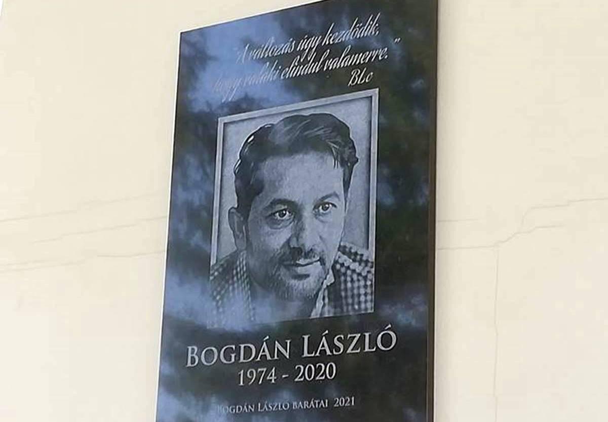 Bogdán László a jóság, a szeretet nagykövete volt - Emléktábla avatás Cserdiben