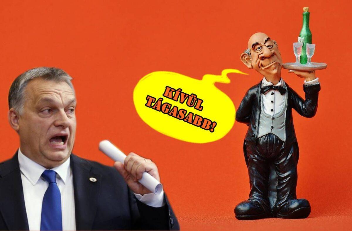 Orbán és rezsimje olyan, mint a vendég az úri klubban, aki teszkós szatyorba pakolja a svédasztal legjobb falatjait és szotyihéj köpködés közben sértegeti a többi klubtagot