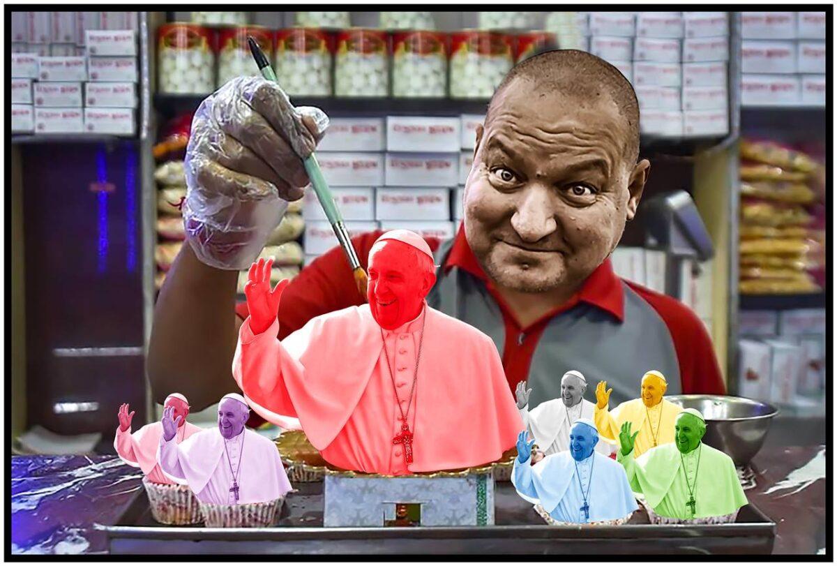 Németh Szilárd irányításával, uniós támogatással készül egymillió darab különböző ízesítésű, Ferenc pápát ábrázoló marcipánfigura - Cseri László szerint a világ Orbániában....