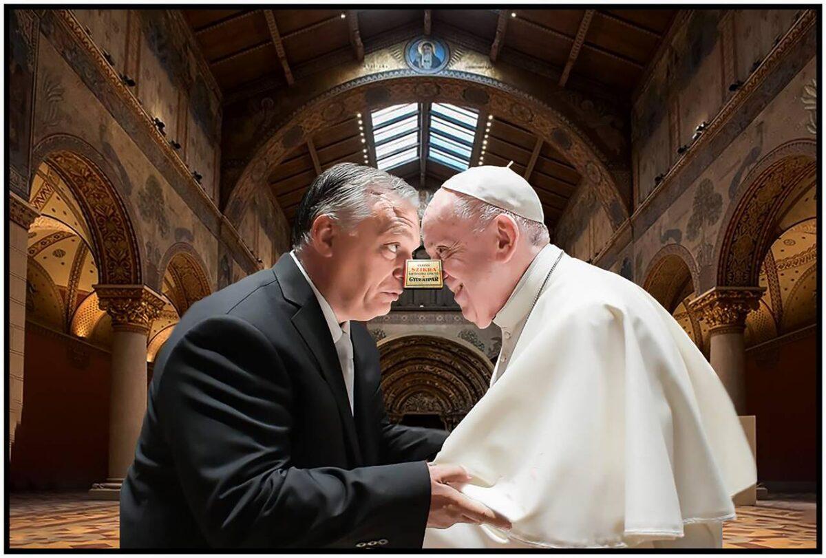 """A """"Gyufásdoboz az orron"""" elnevezésű játéknak óriási sikere volt az Orbán – Ferenc pápa találkozón - Cseri László szerint a világ Orbániában…."""