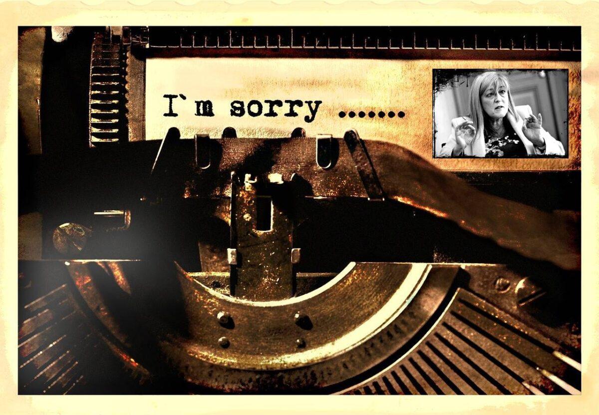 Juszt László: kérem, nézze el ennek a zavart elméjű nőnek a nyilvánosságra hozott levelét (...) én kérek bocsánatot a józan többség nevében!