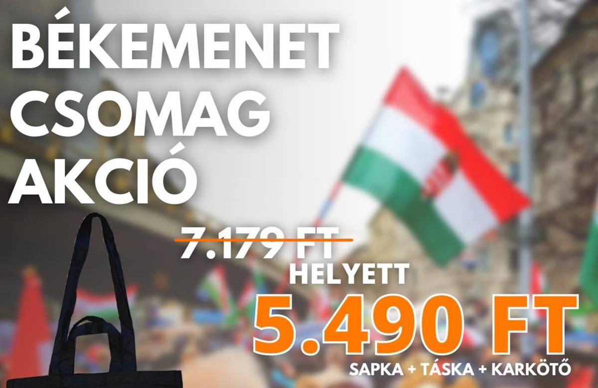 Vegye, vigye! Itt az akciós Békemenet-túlélőcsomag! - Hab a tortán: mindez az Orbán-webshopban kapható!